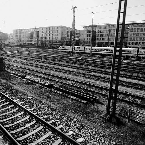 On the railway line